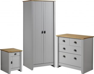 Ludlow Trio in Grey / Oak Lacquer