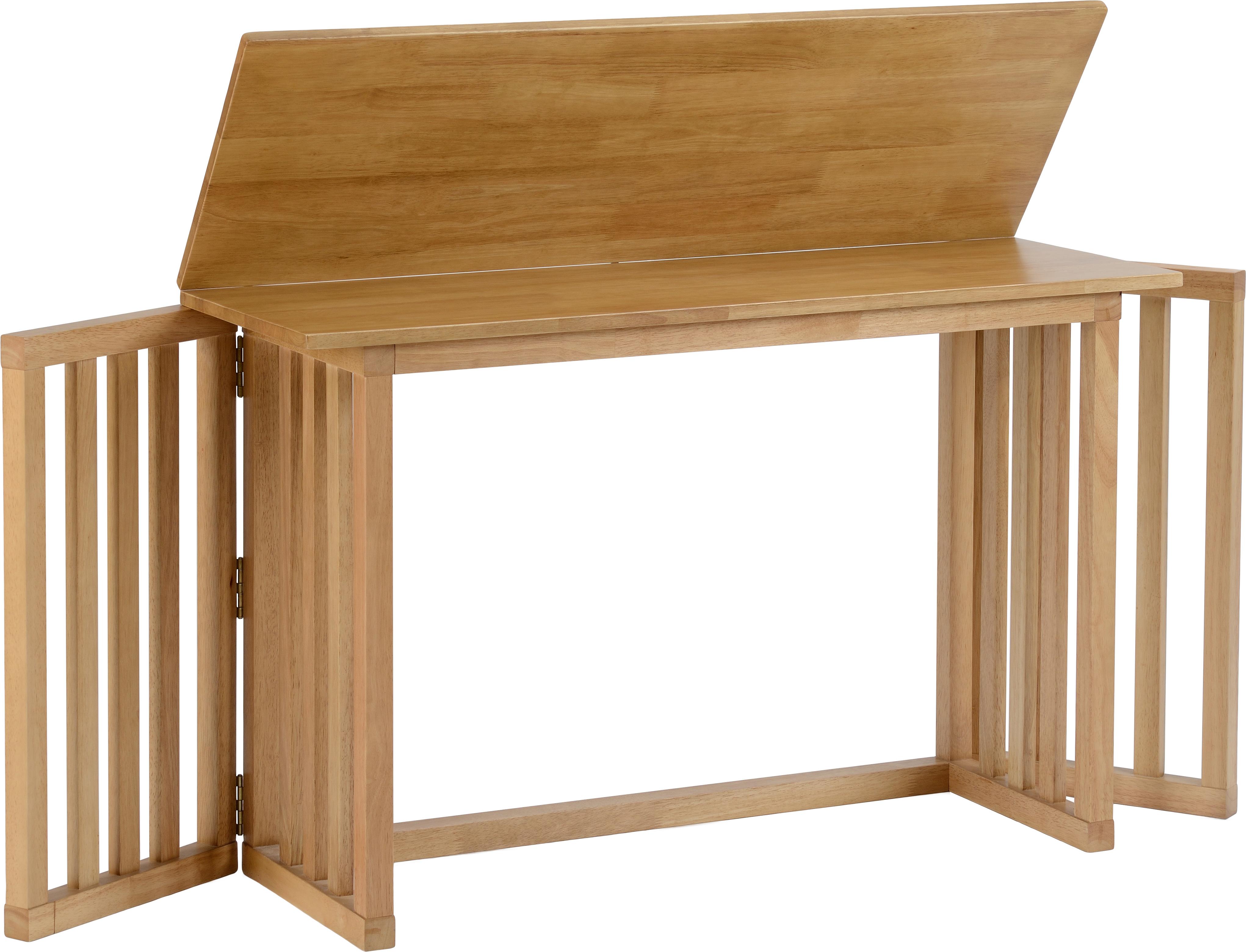 - Richmond Foldaway Dining Table In Oak Varnish - Live Well Furniture