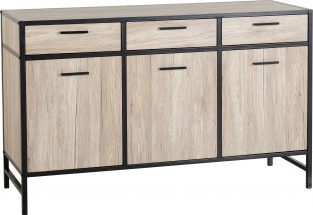 Warwick Sideboard in Oak Effect Veneer / Black